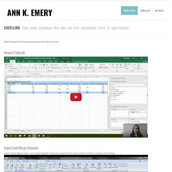 Excel Tutorials - Ann K Emery