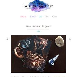 Ann Leckie et le genre - La Nife en l'Air