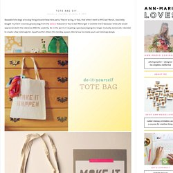 Ann-Marie Loves: tote bag diy.
