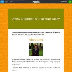 Anna Laghigna's Learning Diary