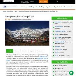 Annapurna Base Camp Trek in Himalaya