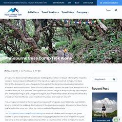 Annapurna Base Camp Trek Alone