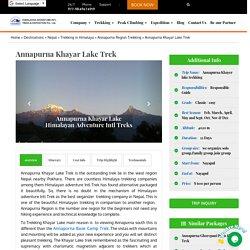 Annapurna Khayar Lake Trek in Himalaya