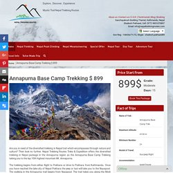 Annapurna Base Camp Trek - trekking in Nepal lap of Annapurna Mountain