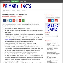 Anne Frank: Facts and Information