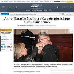 Anne-Marie Le Pourhiet : «Le néo-féminisme : not in my name»