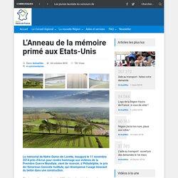 L'Anneau de la mémoire primé aux Etats-Unis - Région Hauts-de-France