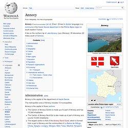Annecy Wikipedia
