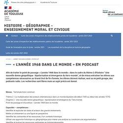 Histoire - Géographie - Enseignement moral et civique