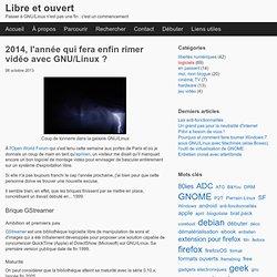 2014, l'année qui fera enfin rimer vidéo avec GNU/Linux ?