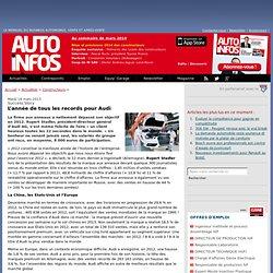 L'année de tous les records pour Audi