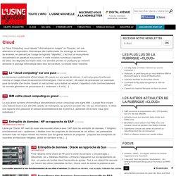 Année 2009 Toute l'actualité sur Cloud et Data - usine-digitale.fr