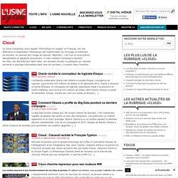 Année 2012 Toute l'actualité sur Cloud et Data - usine-digitale.fr