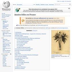 Années folles en France