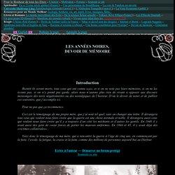 Les Années Noires, devoir de mémoire