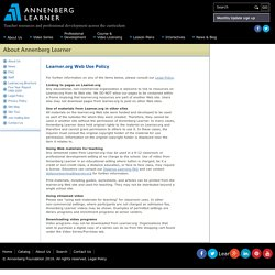 Annenberg Learner: About Us