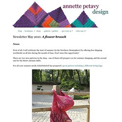 Newsletter May 2010 - A crocheted flower brooch