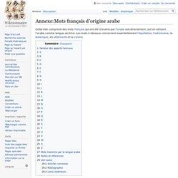 Annexe:Mots français d'origine arabe