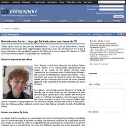 Marie-Annick Sartori : Le projet Tw´haiku dans une classe de CP