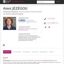 Annie JEZEGOU - Université de Lille