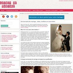 Anniversaire de mariage : date par année de mariage, calendrier et tradition