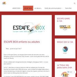 ESCAPE BOX enfants ou adultes – Kit jeux à la maison, anniversaire, escape game : anniv'box, escape'box, calendrier de l'avent à gratter chasses aux trésors…