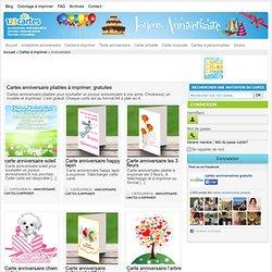 Cartes anniversaire pliables à imprimer, gratuites