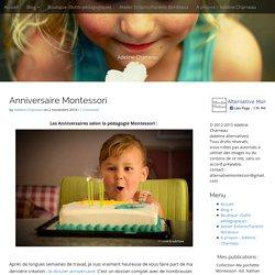 Anniversaire Montessori -