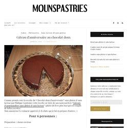gâteau d'anniversaire au chocolat doux par philippe conticini