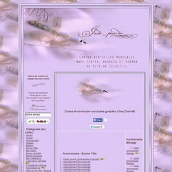 Cartes anniversaire musicales gratuites Chez Celestill