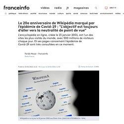 """Le 20e anniversaire de Wikipédia marqué par l'épidémie de Covid-19 : """"L'objectif est toujours d'aller vers la neutralité de point de vue"""""""