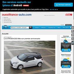 La CITROEN DS3 fête son premier anniversaire - Votre actu auto sur Ouesfrance-auto.com