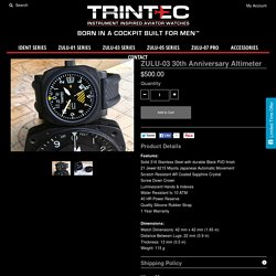 ZULU-03 30th Anniversary Altimeter – Trintec Watches
