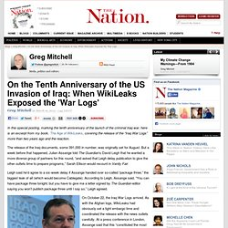 On the Tenth Anniversary of the US Invasion of Iraq: When WikiLeaks Exposed the 'War Logs'