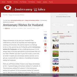 Anniversary Wishes for Husband - Romantic Quotes & Messages