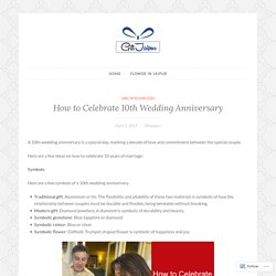 How to Celebrate 10th Wedding Anniversary – sendflowerjaipur