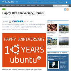 Happy 10th anniversary, Ubuntu