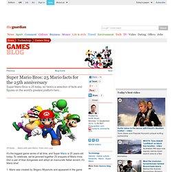 Super Mario Bros: 25 Mario facts for the 25th anniversary