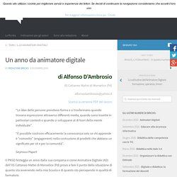 UN ANNO DA ANIMATORE DIGITALE (RIVISTA BRICKS)