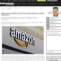 Amazon annonce un bénéfice en recul de 77% au dernier trimestre et les marchés n'aiment pas ça