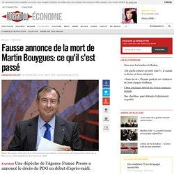 Fausse annonce de la mort de Martin Bouygues: ce qu'il s'est passé
