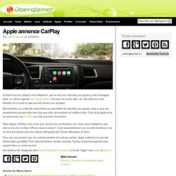 Apple annonce CarPlay