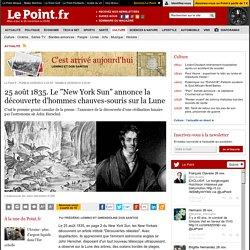 """25 août 1835. Le """"New York Sun"""" annonce en une la découverte d'hommes chauves-souris sur la Lune"""