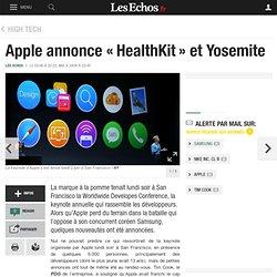 Apple annonce «HealthKit» et Yosemite, High tech