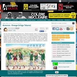 Annonce : Orange (Ichigo Takano)
