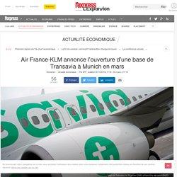 Air France-KLM annonce l'ouverture d'une base de Transavia à Munich en mars