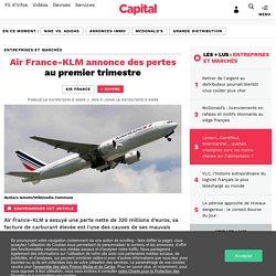 Air France-KLM annonce des pertes au premier trimestre
