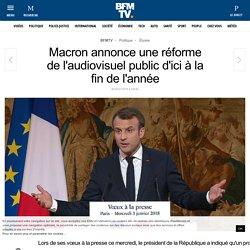 Macron annonce une réforme de l'audiovisuel public d'ici à la fin de l'année