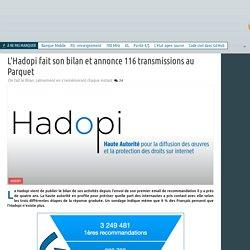 Analyse du bilan d'Hadopi par un site de presse spécialisé sur l'actualité numérique