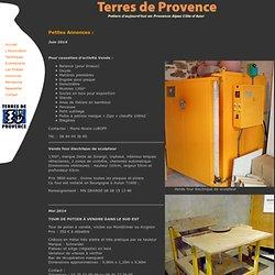Annonces Terres de Provence - Association Régionale de Potiers